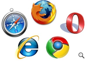 Firefox, Internet Explorer, Chrome, Safari, Opera