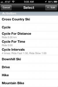 5K Runmeter App Activities Screenshot