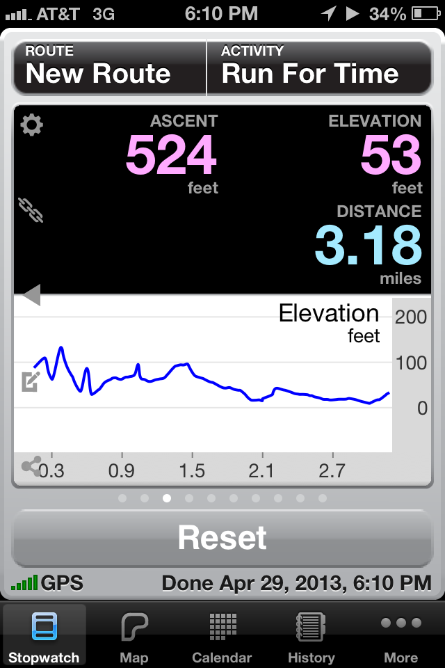 5K Runmeter App Screenshot