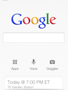 Google Now Search Screenshot