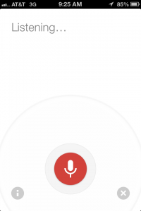 Google Now Voice Search Screenshot