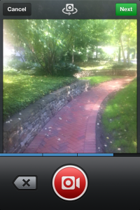 Instagram Video Capture Screen