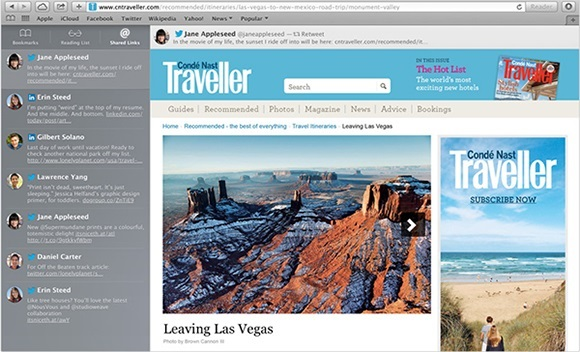 Mavericks OS X Safari Screenshot