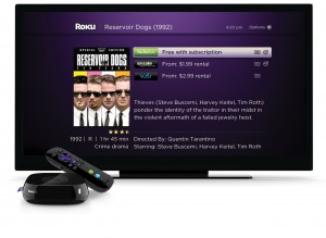 Roku 3 Menu Screen