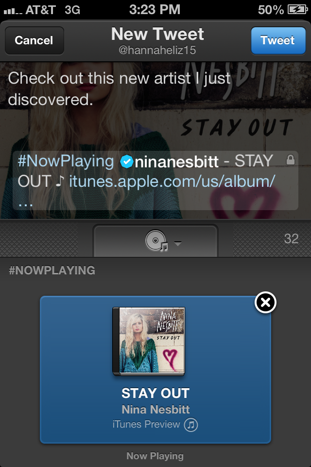Twitter Music app Screenshot