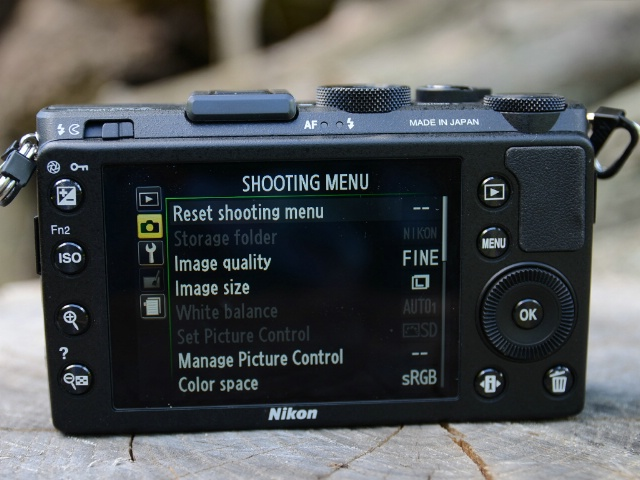 Nikon Coolpix A display